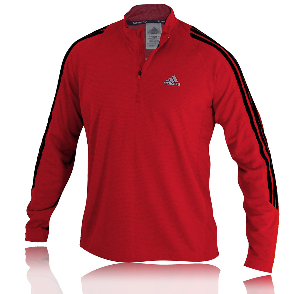 Adidas Response DS Long Sleeve 1/2 Zip Running Top