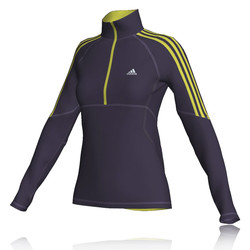 Adidas Response Women&39s Fleece Half Zip Running Top