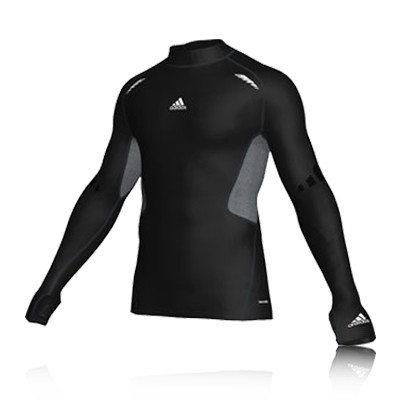 Adidas TechFit Turtle Neck Long Sleeve Compression Running Top picture 1