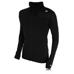 Adidas TechFit Preparation Full Zip Long Sleeve Compression Running Top