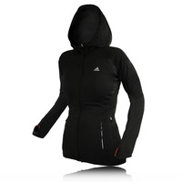 Adidas Lady Climawarm Full Zip Hooded Top