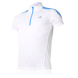 Adidas Response HalfZip  Short Sleeve Running Top