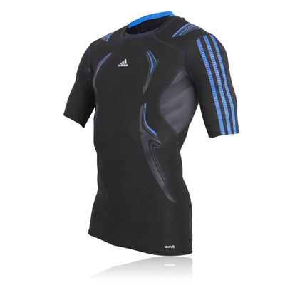 Adidas TechFit PowerWeb Short Sleeve Compression Running T-Shirt picture 1