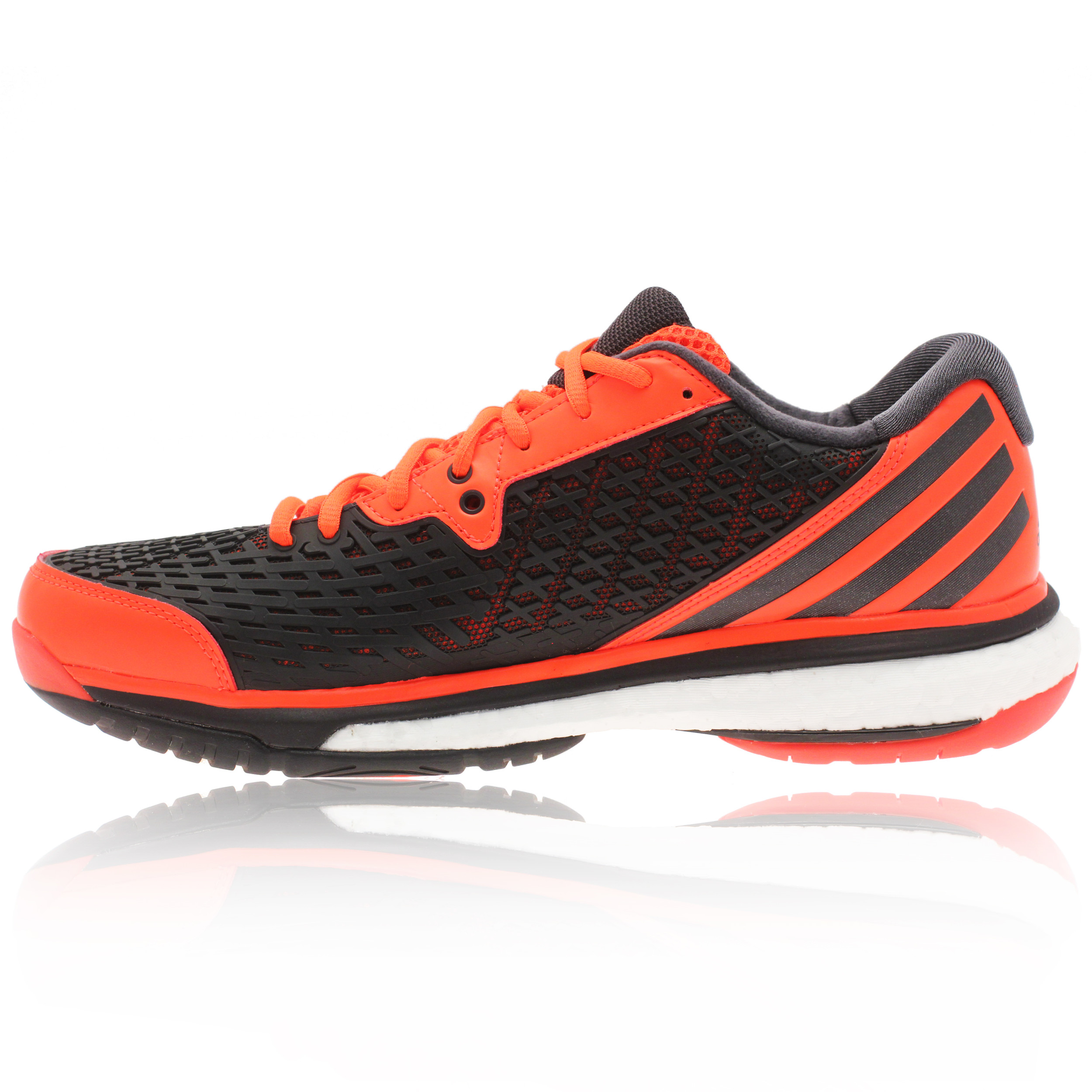ADIDAS ENERGY Mens Orange Sports BOOST VOLLEYBALL SHOES ...