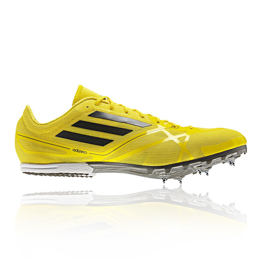 adidas adizero md 2 mens yellow track running spikes