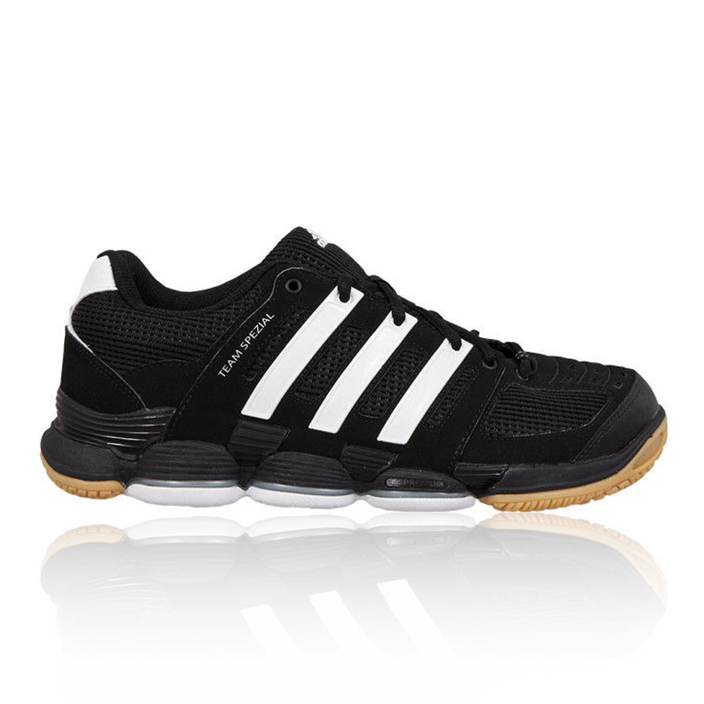 adidas team spezial court mens black squash trainers