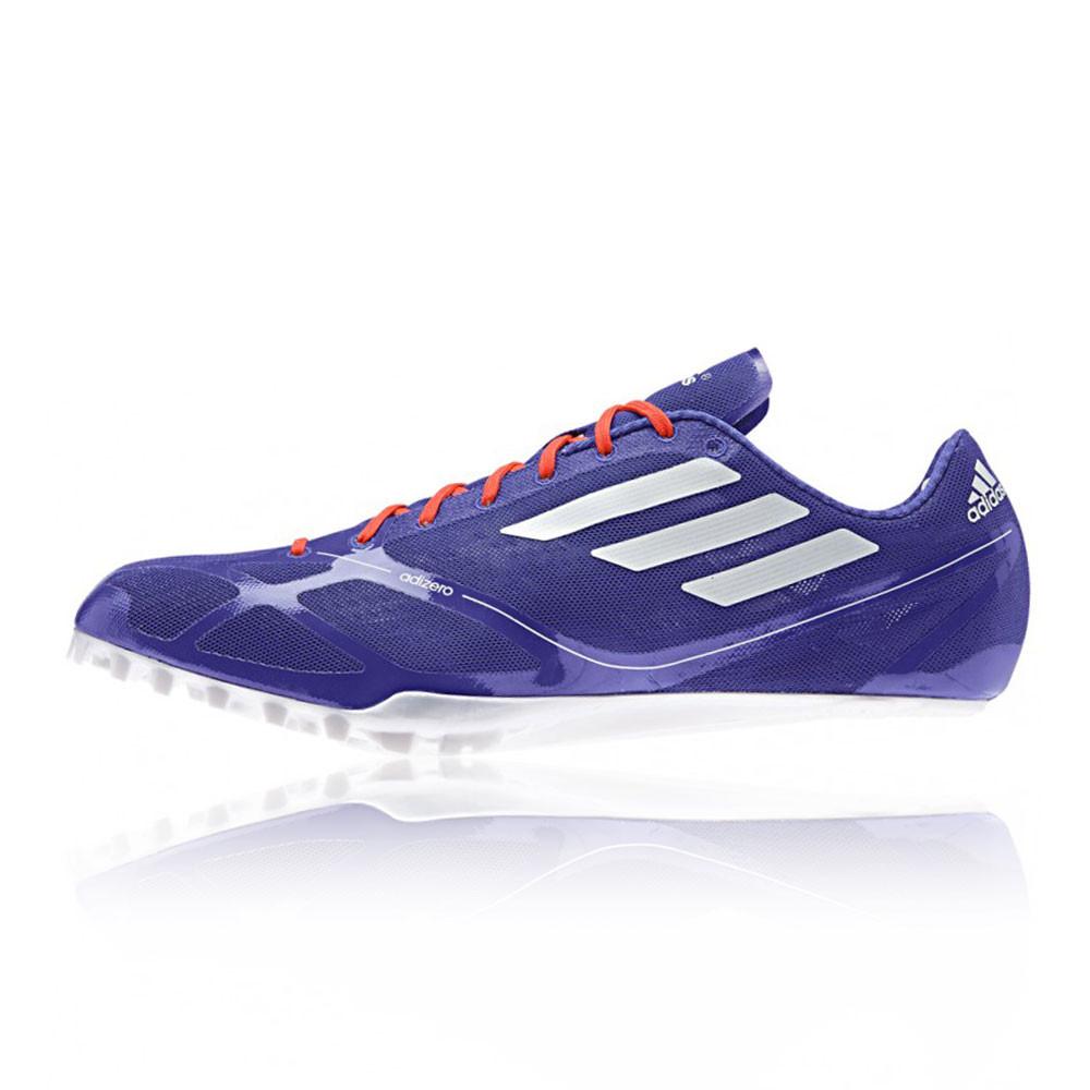 adidas adizero prime finesse mens purple running spikes