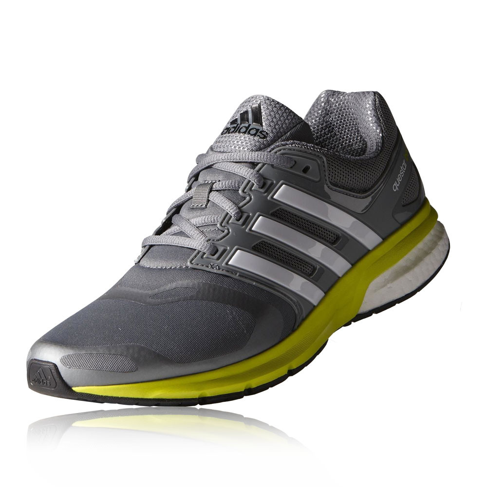 adidas questar boost techfit mens grey cushioned running. Black Bedroom Furniture Sets. Home Design Ideas