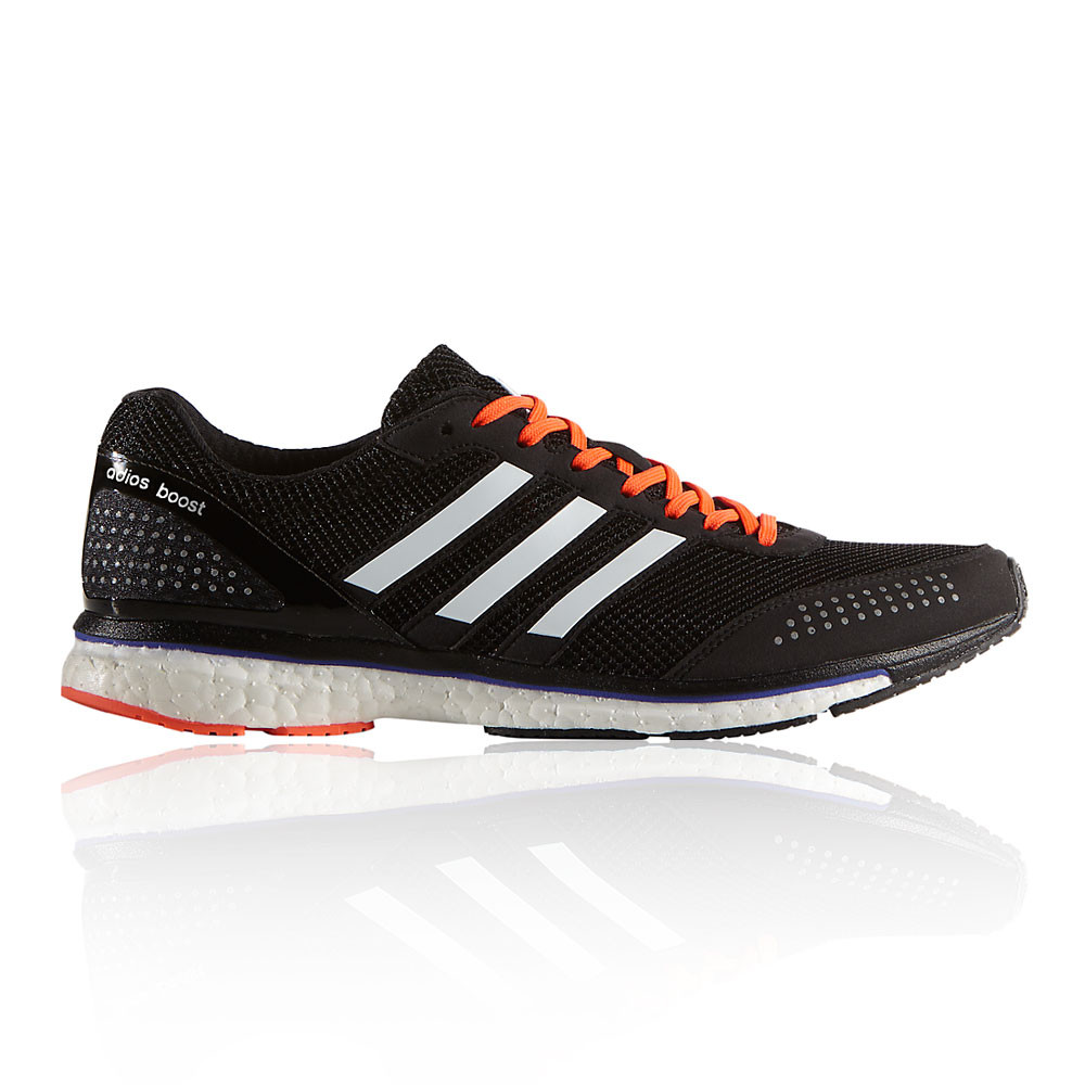 adidas adizero adios boost 2 mens black sneakers running sports shoes trainers. Black Bedroom Furniture Sets. Home Design Ideas