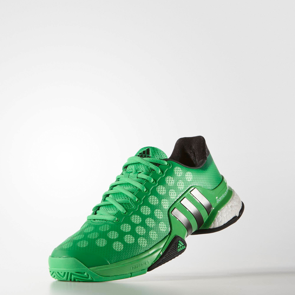 adidas barricade 2015 boost womens green sneakers tennis