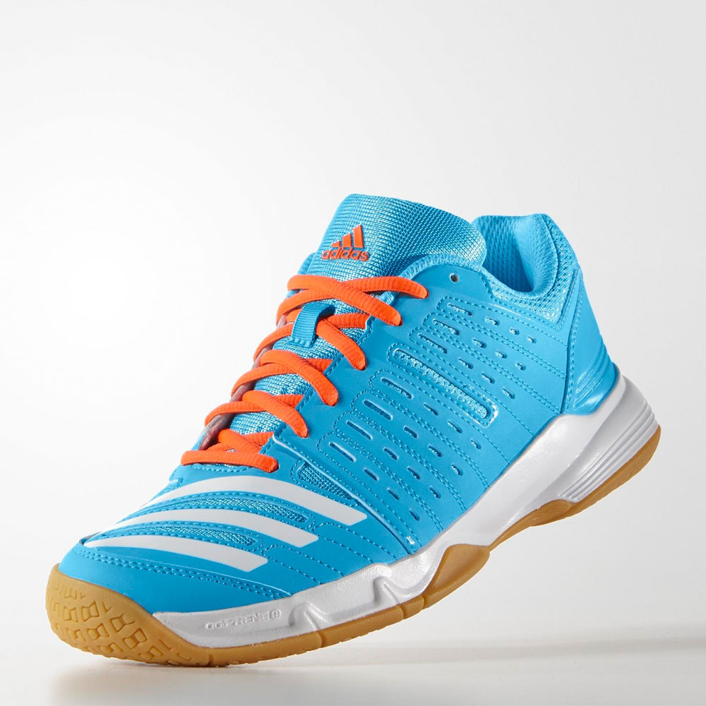 adidas essence 12 womens blue badminton indoor sports