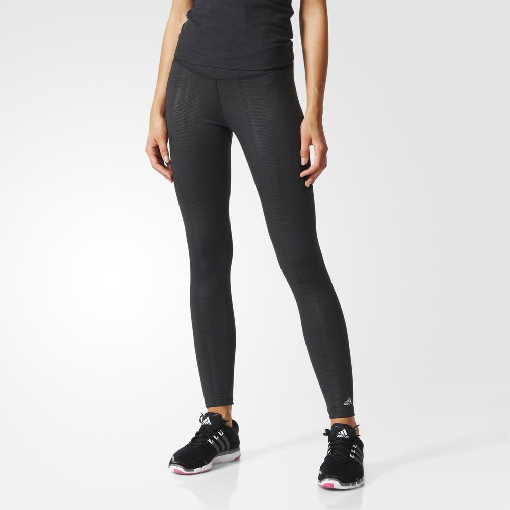 Adidas Ultimate Fit Womens Black Climalite Running Gym Training Long Tights