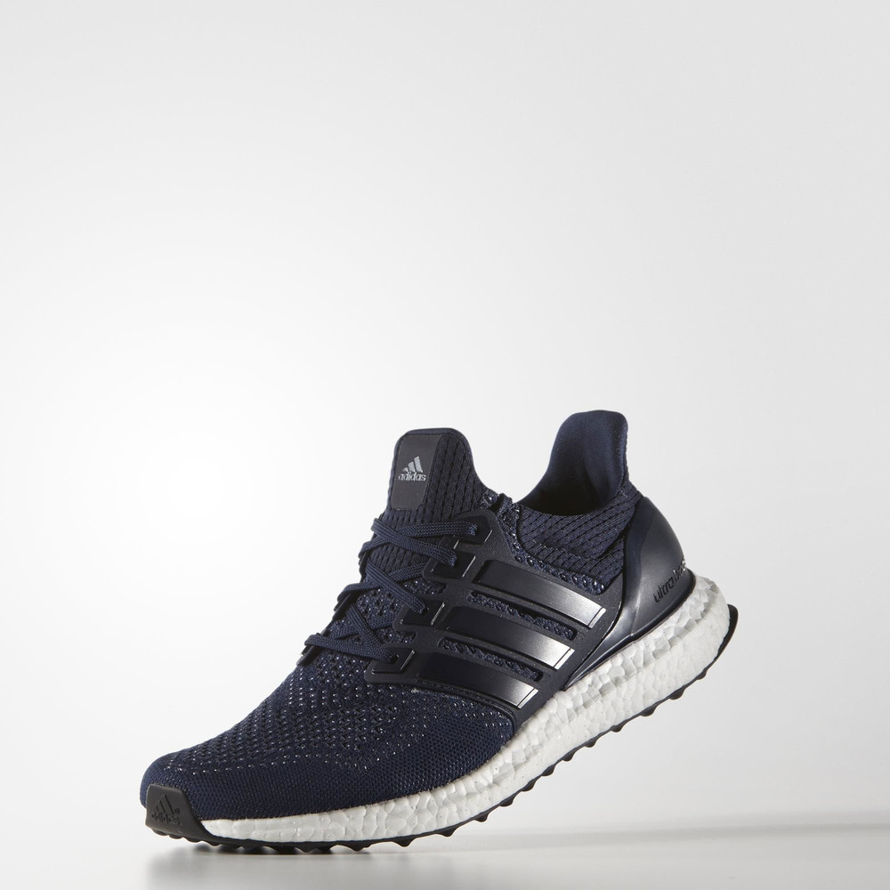 Adidas Ultra Boost Mens Navy Blue Sneakers Running Road