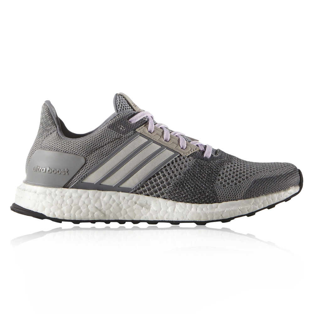 Adidas Ultra Boost ST Womens Grey Sneakers Running Sports