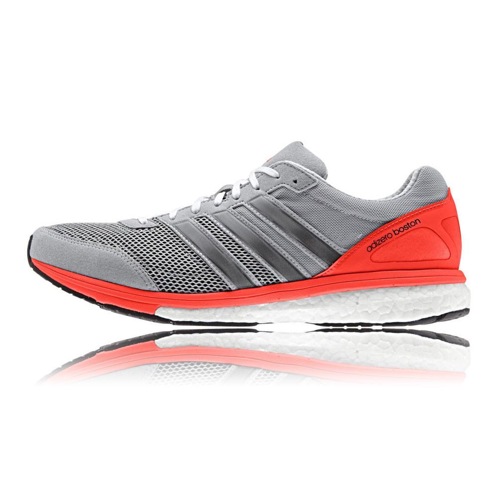 Adidas Adizero Boston Boost 5 Mens Red Grey Sneakers