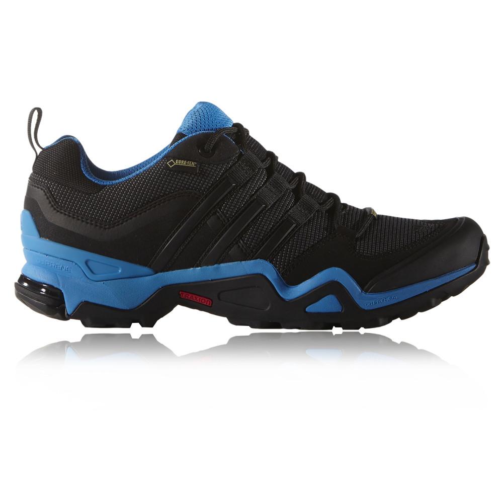 adidas fast x mens blue black waterproof trail walking
