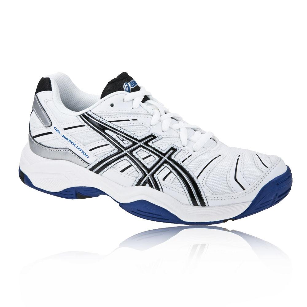 asics junior gel resolution 4 tennis shoes 42