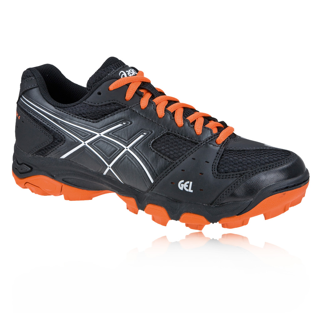 Details about ASICS GEL BLACKHEATH 4 GS Junior Black Duomax Sports Hockey Shoes Trainers