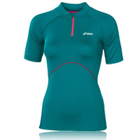 ASICS LADY Inner Muscle Half-Zip Short Sleeve T-Shirt