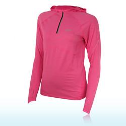 Asics Women&39s Half Zip Long Sleeve Hooded Top