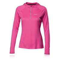 ASICS Women's Long Sleeve Half-Zip Hooded Running Top