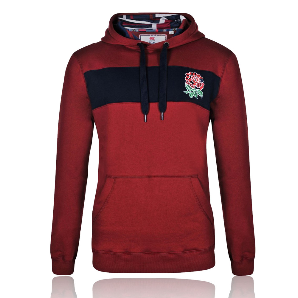 Canterbury England Rugby Uglies Graphic Long Sleeve Hooded Top