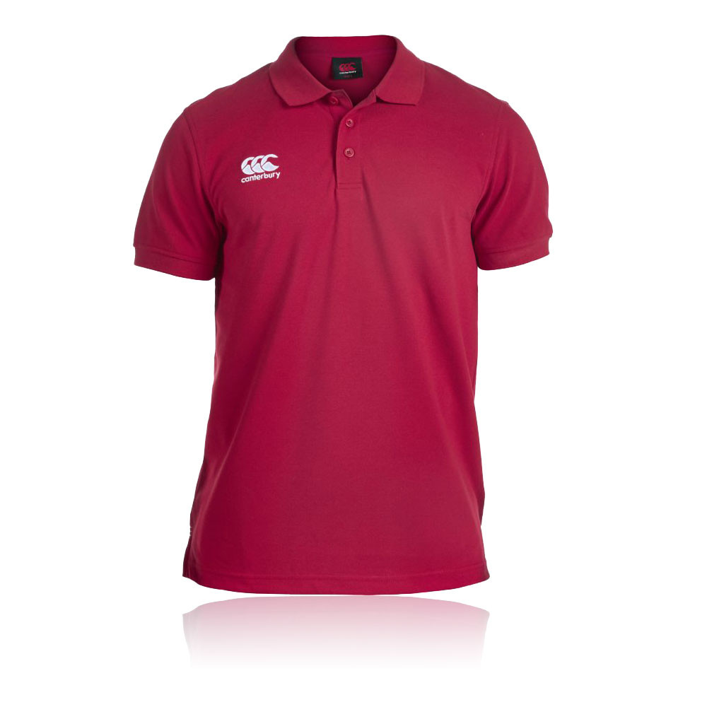 Canterbury-Classic-Waimak-Mens-Red-Breathable-Short-Sleeve-Leisure-Polo-T-shirt