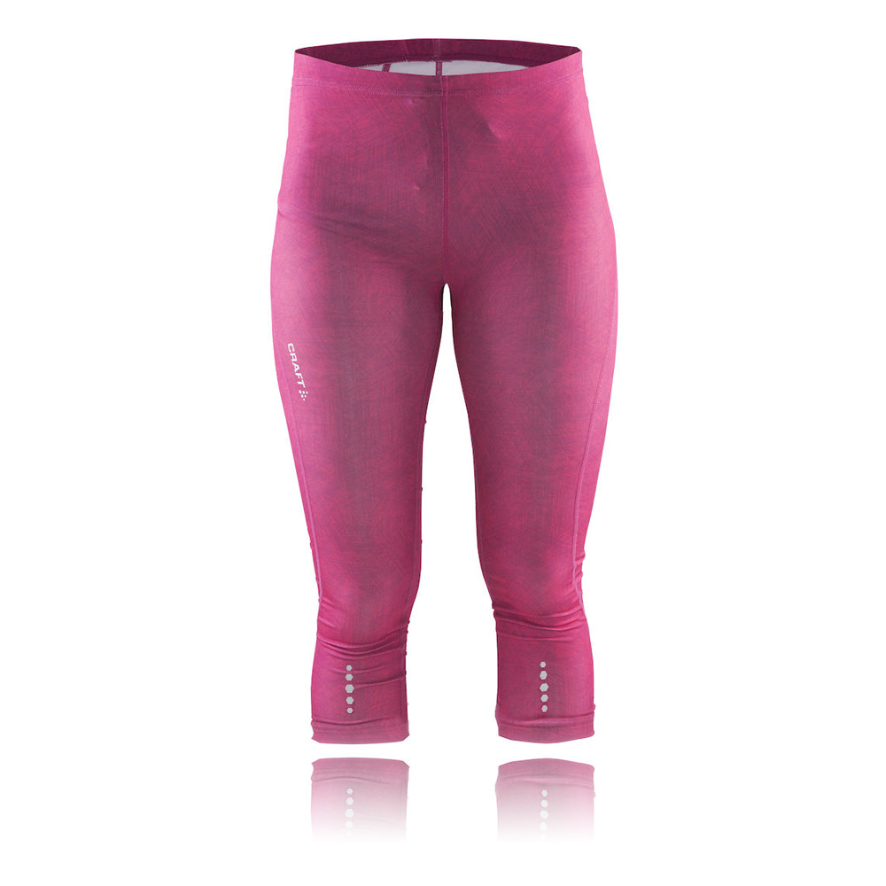 Craft mind womens pink wicking capri running fitted tights for Craft women s run