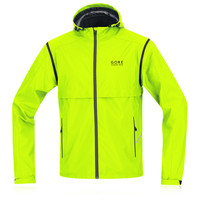Gore Essential Windstopper Active Shell Zip Off Running Jacket
