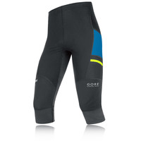 Gore X-Run Ultra Windstopper Soft Shell Light Capri Running Tights