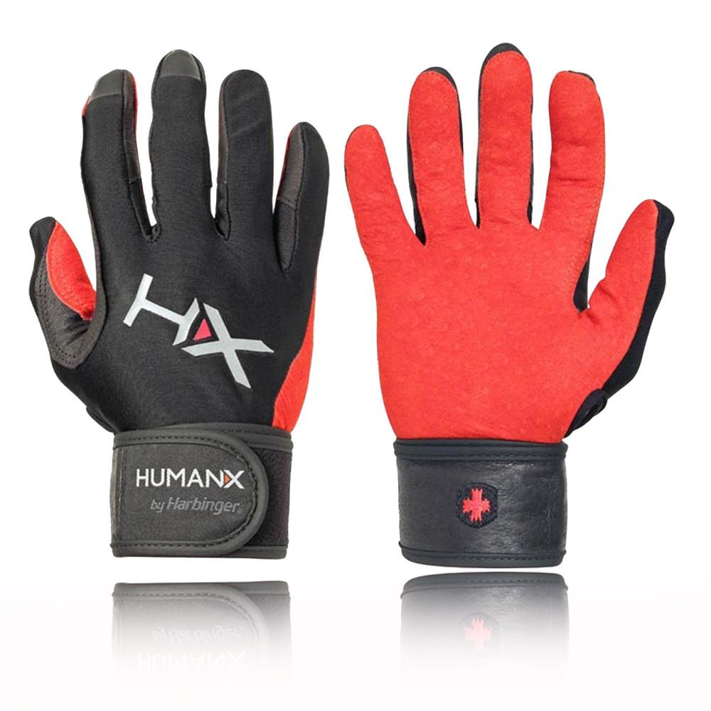 Harbinger Womens Wristwrap Gloves: Harbinger X3 Competition Mens Womens Black Red Full Finger