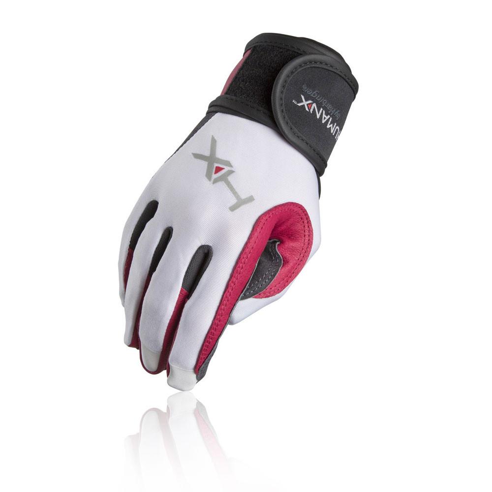 Workout Gloves Full Finger: Harbinger X3 Competition Womens White Grey Full Finger
