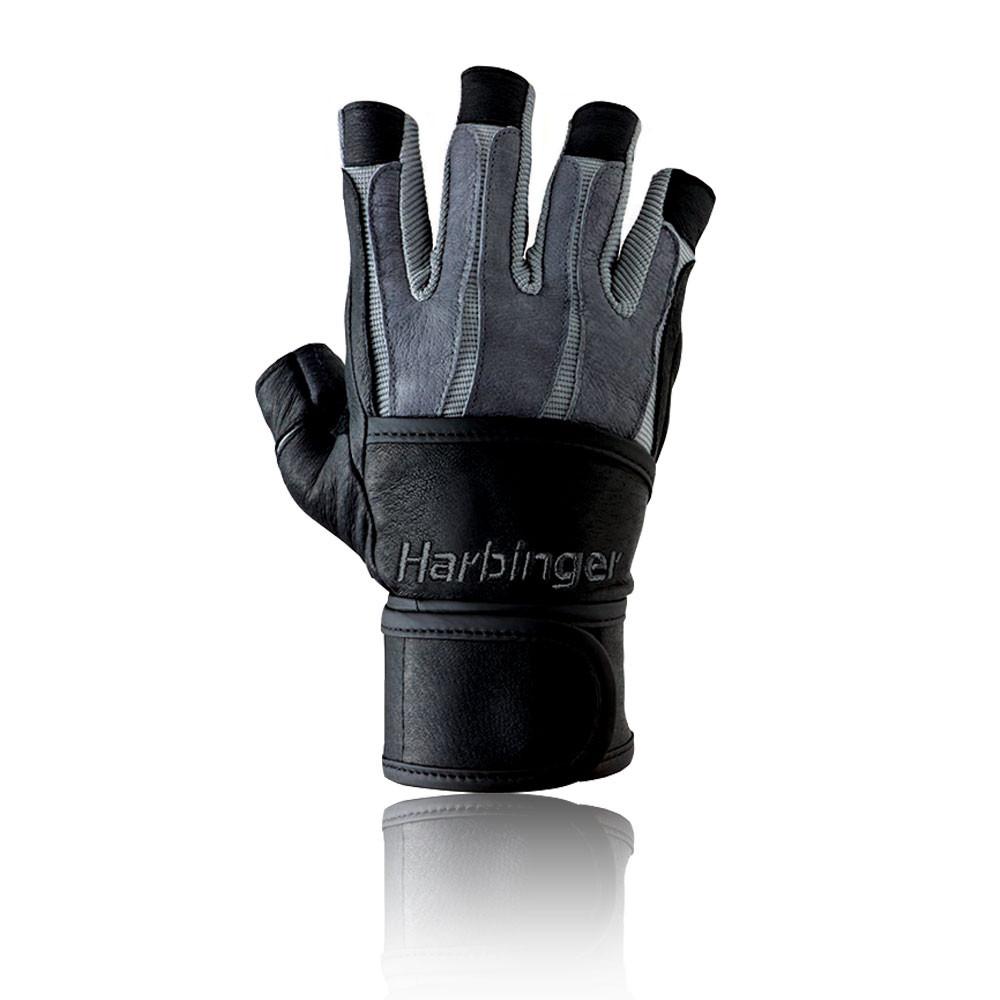 Harbinger Womens Wristwrap Gloves: Harbinger Bioform Unisex Black Spidergrip Gym
