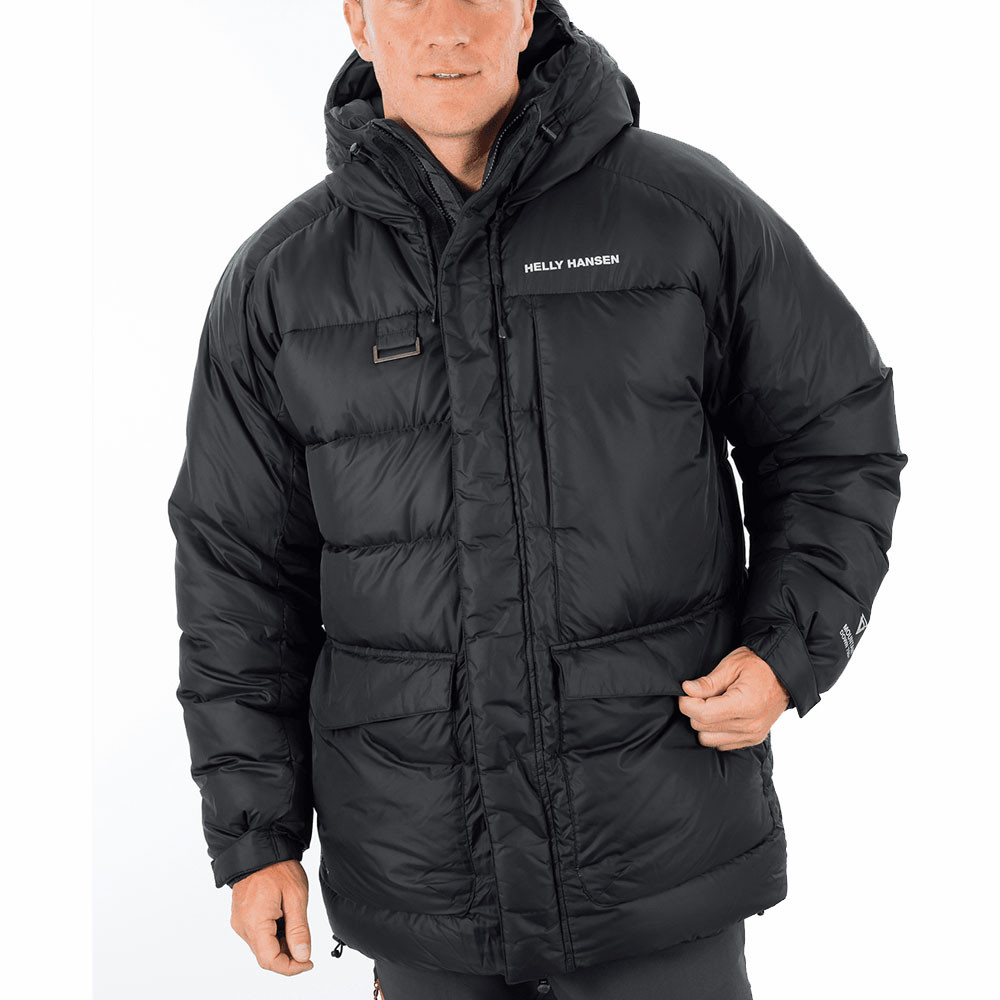 helly hansen verglas herren daunenjacke kapuzenjacke parka. Black Bedroom Furniture Sets. Home Design Ideas