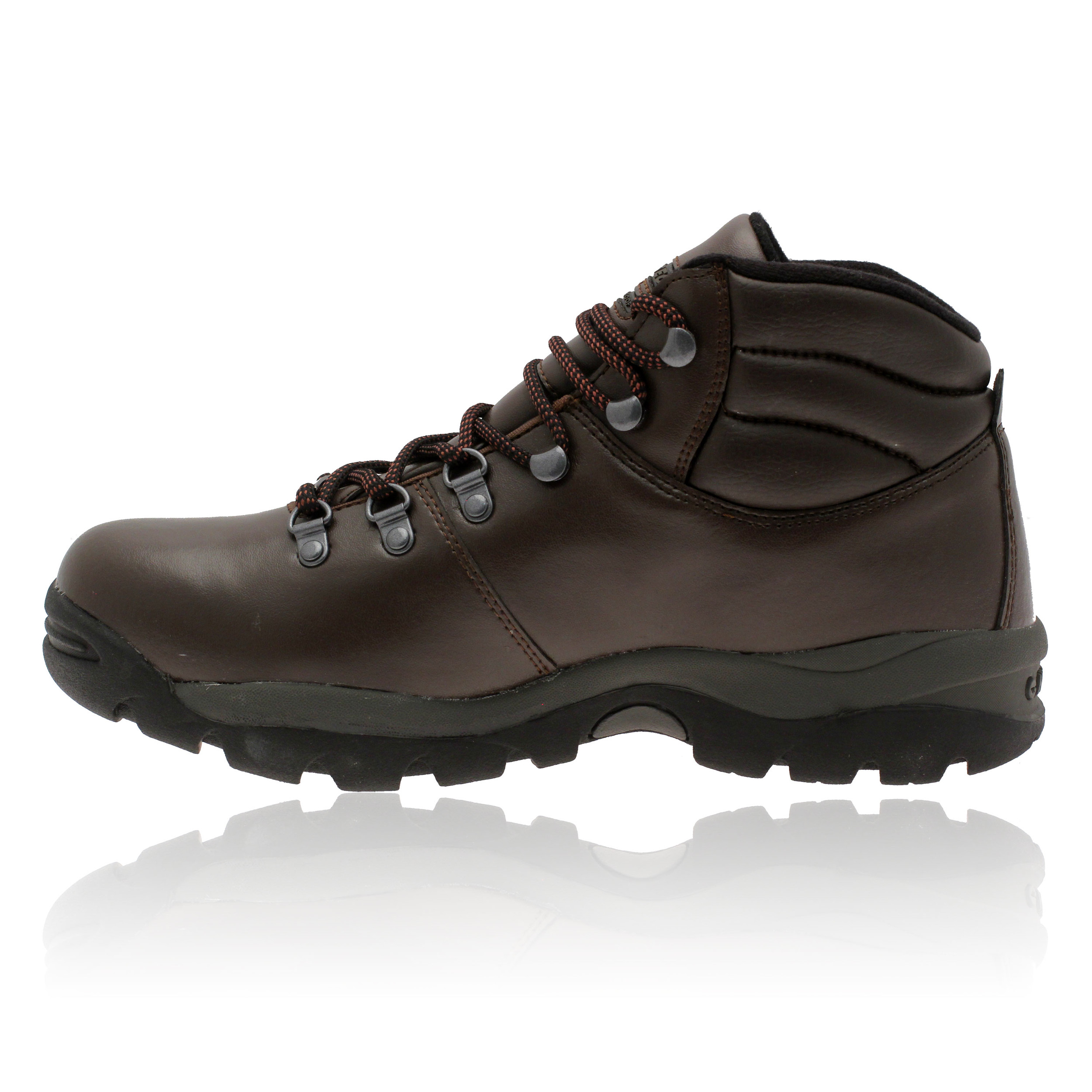 hi tec mens eurotrek brown waterproof grain leather