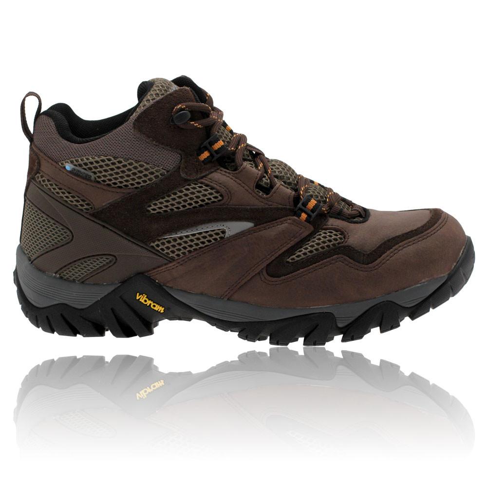 hi tec mens alpha trail mid brown waterproof trail walking