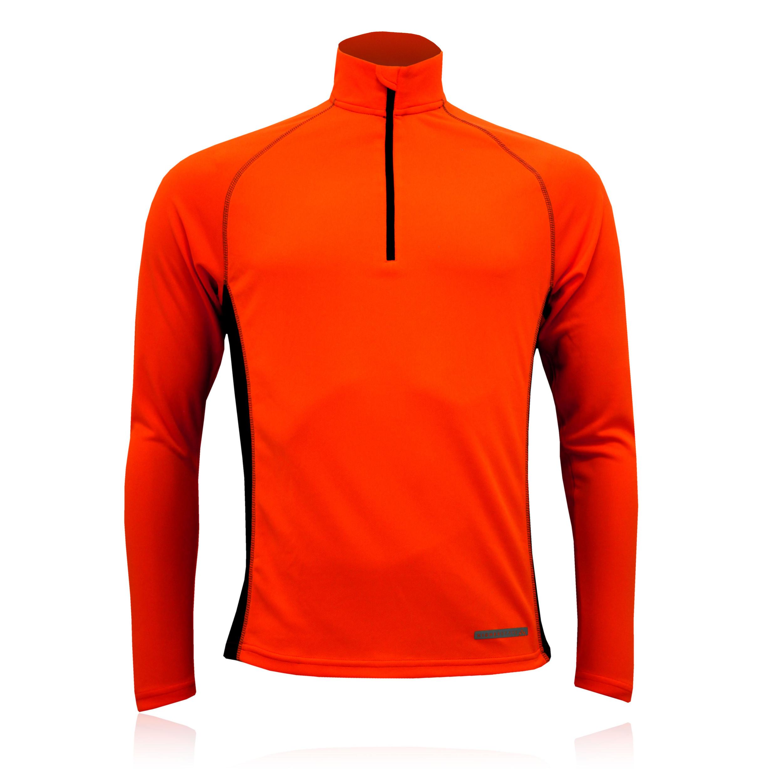 Higher State Mens Orange Black Half Zip Long Sleeve Lightweight ...