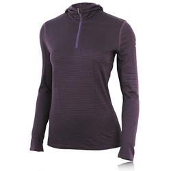IceBreaker Oasis Stripe Women&39s Long Sleeve Hooded Running Top