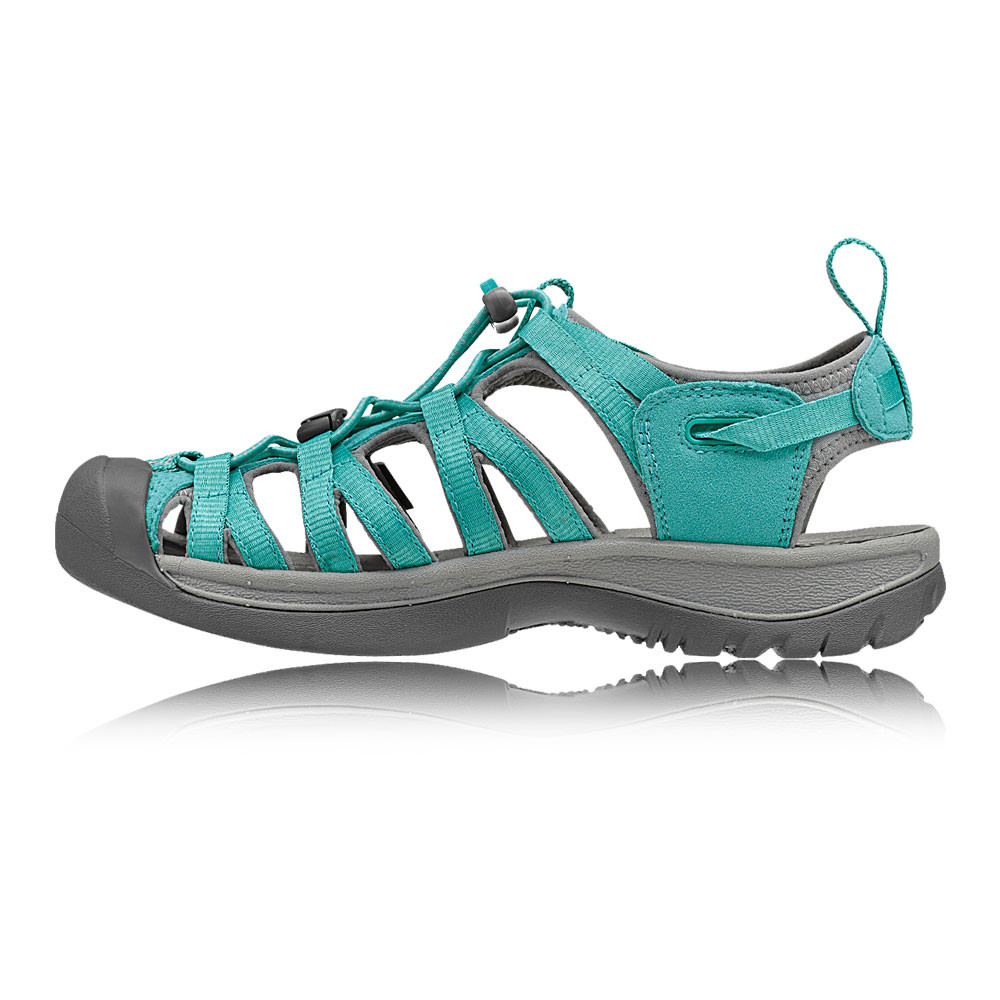 keen whisper womens green water resistant summer shoes