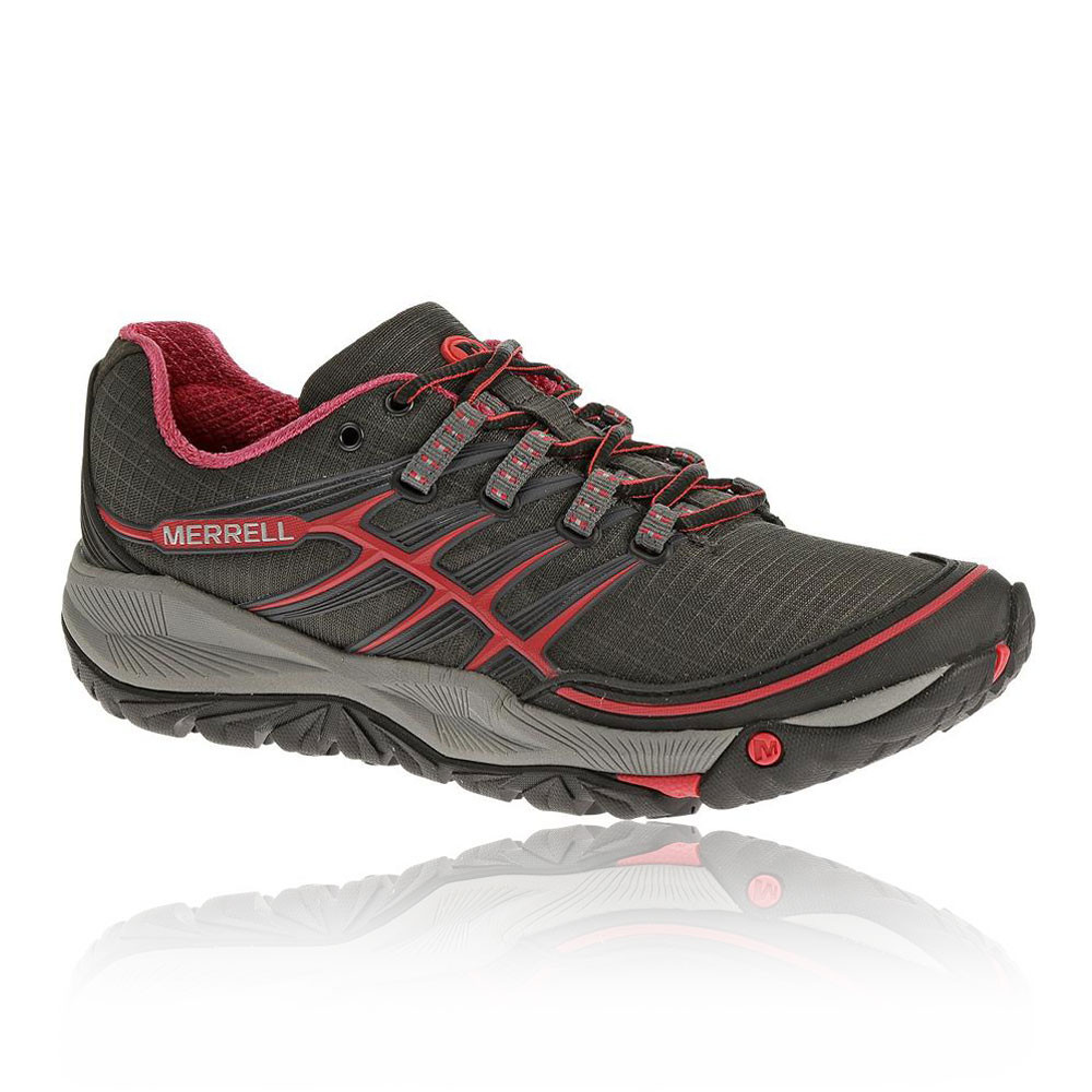merrell allout womens brown cushioned outdoor trail