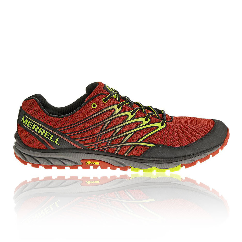 merrell bare access mens orange trail running road walking