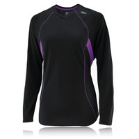 Mizuno Breath Thermo Women's V Neck Long Sleeve Running Top