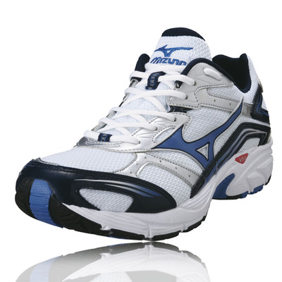 mizuno crusader 6 mens white cushioned running shoes