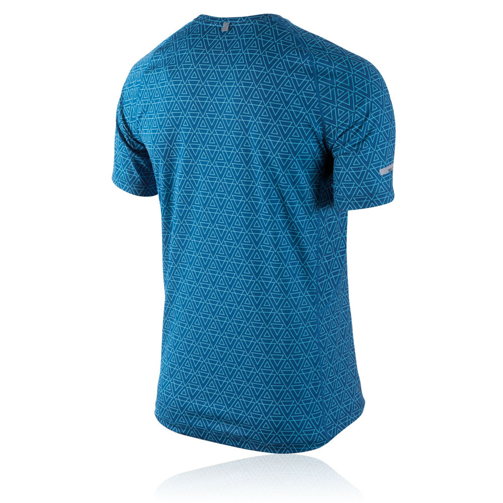 nike miler printed short sleeve running t shirt su14