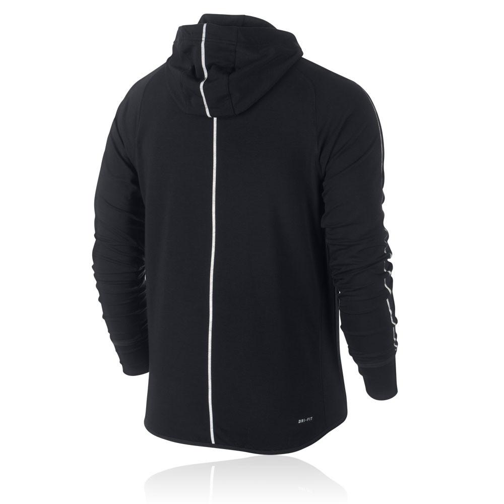Nike Dri Fit Feather Fleece Run Full Zip Long Sleeve