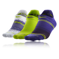 Nike 3 Pack Graphic Tab No-Show Women's Running Socks - FA14