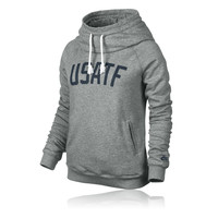 Nike Women's RU USATF Funnel Hooded Top
