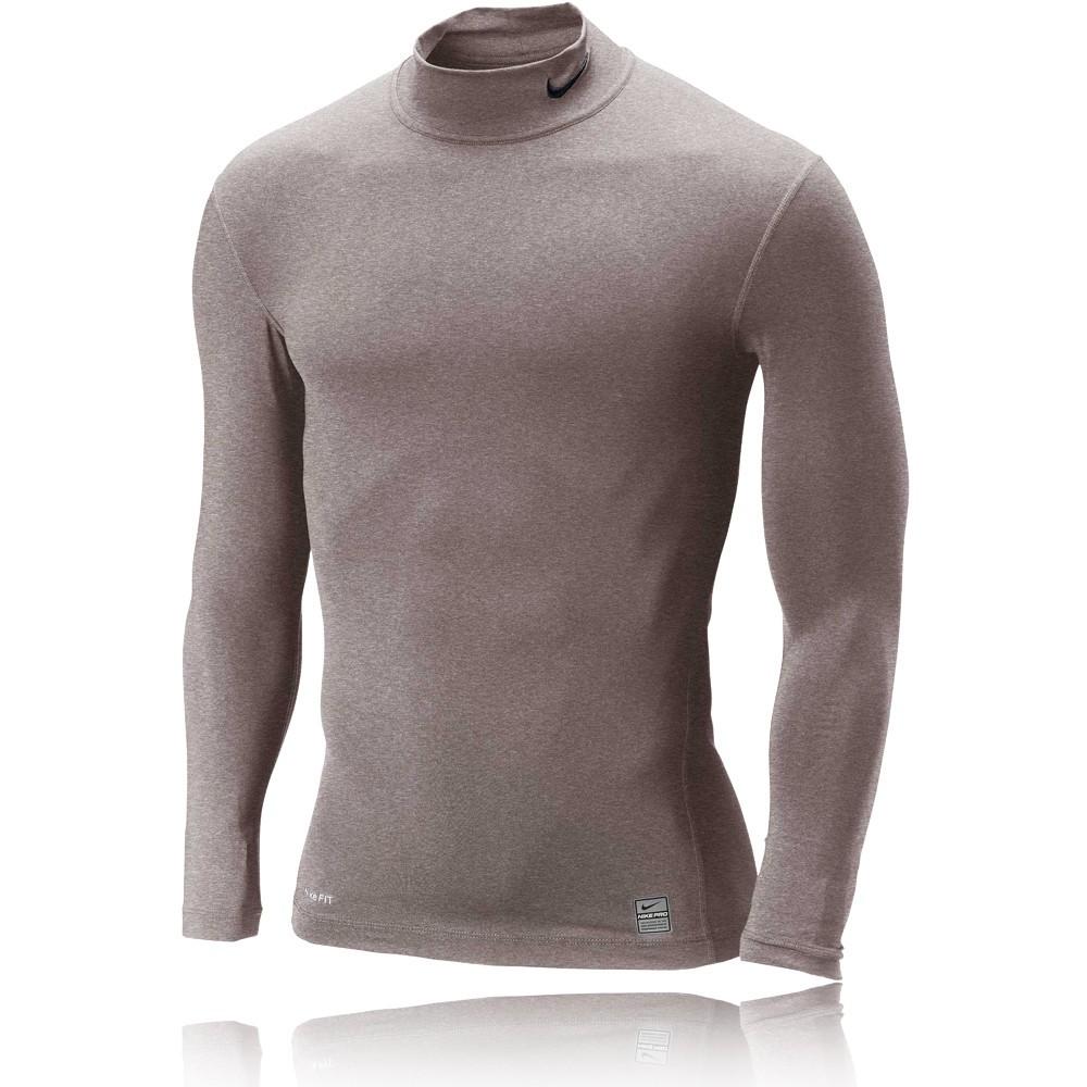 Nike Boys Pro Core Compression Mock Long Sleeve Top