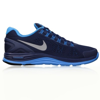 nike lunarglide 4 mens blue sports running shoes casual