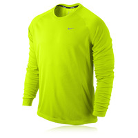 Nike Dri-Fit UV Miler Long Sleeve Running Top - HO14